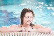Beauty woman in swimming pool