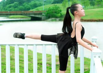 The basic practice dancing girl