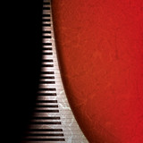 Fototapeta muzyczny - fortepian - Tła