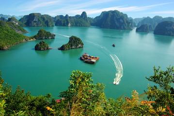 Picturesque sea landscape. Ha Long Bay,  Vietnam