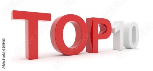 Top 10. Rating. 3D text isolated