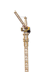 high yellow isolated crane