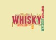 whisky word collage isolated