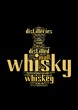 whisky word collage isolated on black background