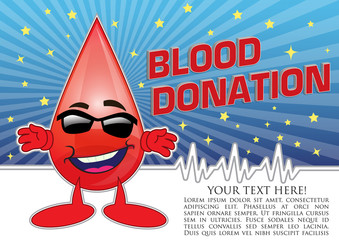 Blood Donation Poster Concept Illustration in Vector