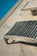 Piscine, terrasse, transat, chaise longue, été, vacances, zen