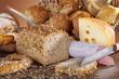 Brotzeit mit Wurst und Käse