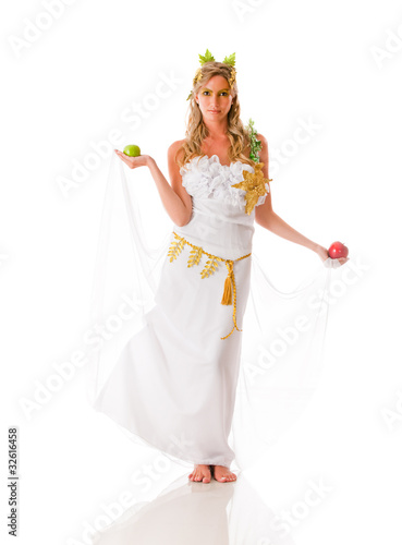 Beautiful Greek goddess
