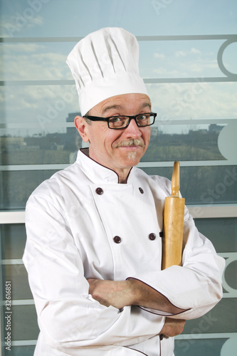 Cook with hat