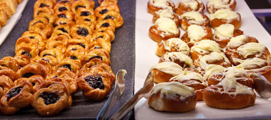 Blueberry Pastries and Cinnamon Rolls