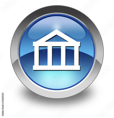 "Glossy Pictogram ""Bank"""