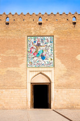 Entrance of old citadel Karmin Khan