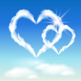 Cloud hearts  and  sunshine poster