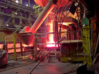 metallurgical works, industrial process