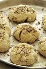 Pane fatto in casa prima della cottura