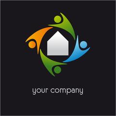 logo entreprise, logo bâtiment