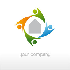 logo entreprise, logo habitat