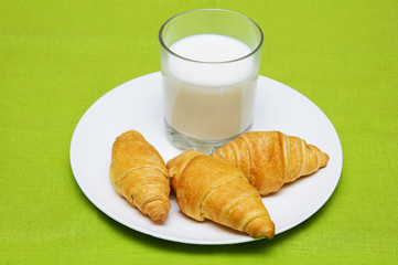 croissants  and milk