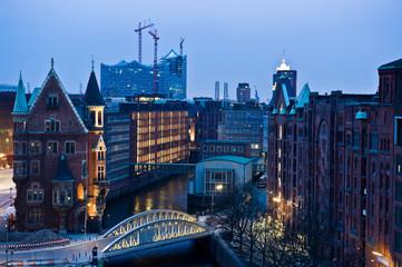 Hamburg in the night