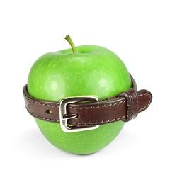 Apfel mit Gürtel