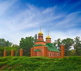 christian church on a green hill