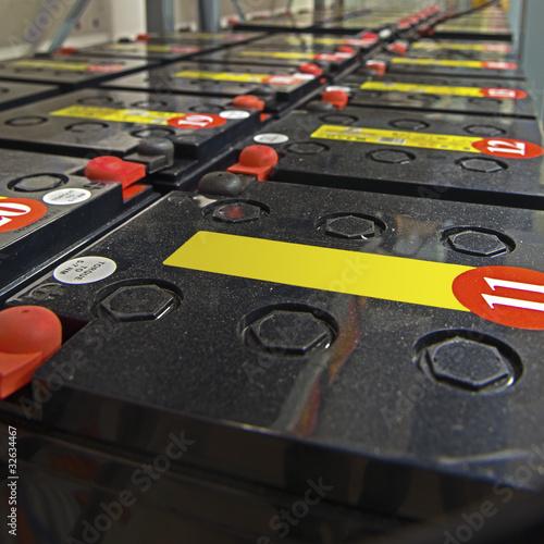 Leinwandbild Motiv USV Batterien - UPS batteries