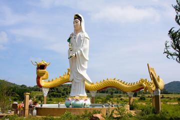 Virgin maria statue in Thailand.