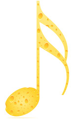 musical note cheese patter