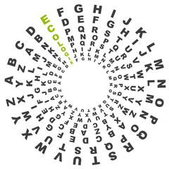 vecteur, alphabet et mot écologie