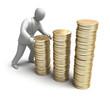Whiteman make money graph. 3D man concept