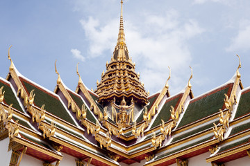 roof of temple thailand.