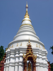 Chedi of Buddhist Temple, Wat Oopdoot, Chiangmai, Thailand
