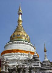 Chedi of Buddhist Temple, Wat Bupparam, Chiangmai, Thailand