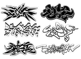 Graffiti elements set 1