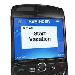 Smart phone reminder, start vacation