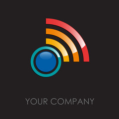 Logo wireless, cd, disco # Vector