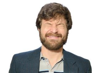 squinting man