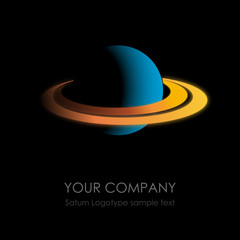 Logo Saturn in the space # Vector