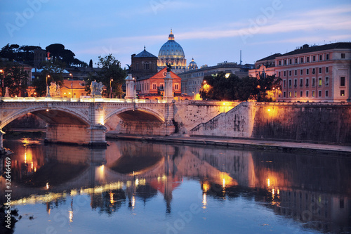 Night View of Rome, Italy