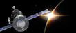 Spaceship on the Earth orbit