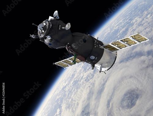 Raumschiff auf der Umlaufbahn