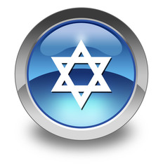 "Glossy Pictogram ""Star Of David"""