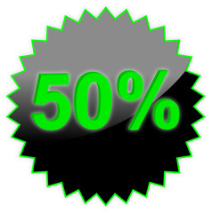 The text sale 50%