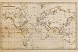Fototapety Old hand drawn vintage world map