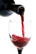Une verre de vin rouge