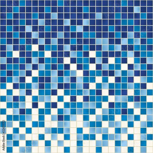 Sticker Carreaux_couleurs_Bleu