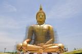 Restoration of the Buddha of Wat Thai. . poster
