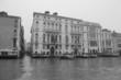 Grand canal- Venise sous le brouaillard - noir et blanc