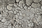 Closeup of dry arid soil with cracks and peeling pieces poster