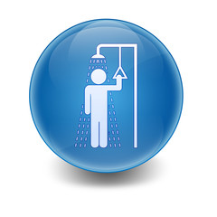 Esfera brillante ducha de seguridad